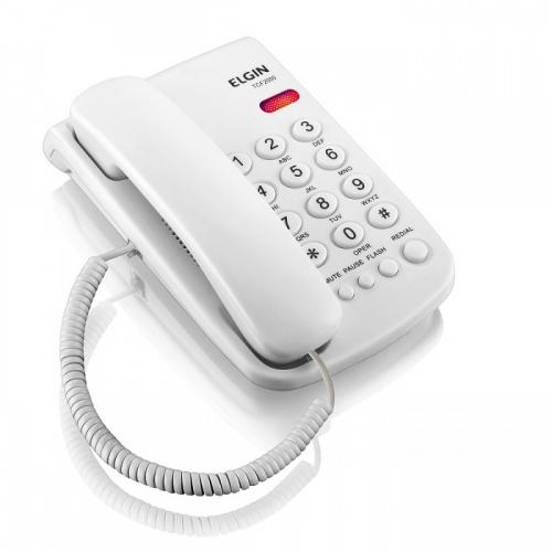 TELEFONE DE MESA ELGIN TCF 2000 COM FIO BRANCO