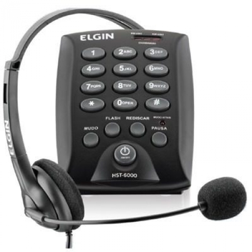 HEADSET CONJ.P/TELEFONISTA C/ BASE DISCADA HST-6000 ELGIN