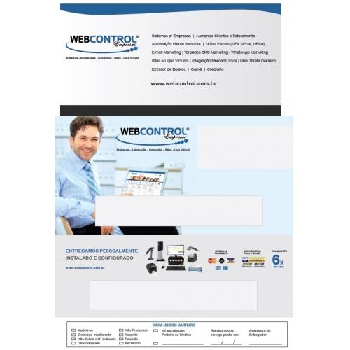 ESPAÇO PUBLICITARIO 01 À 04 (12CM X 18CM) FATURA WEB CONTROL (TIRAGEM= 1)