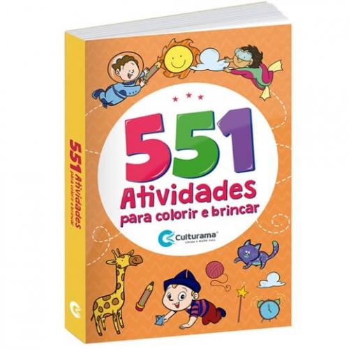 LIVRO CULTURAMA 551 ATIVIDADES PARA COLORIR E BRINCAR