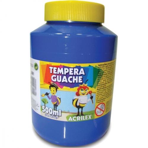 TINTA GUACHE ACRILEX 500ML AZUL TURQUESA 501