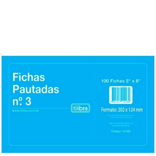 FICHA PAUTADA N3 5X8 100FLS TILIBRA