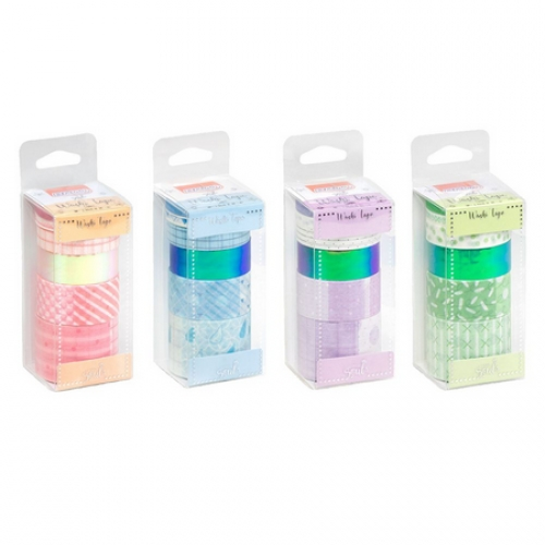 WASHI TAPE BRW 6 CORES CANDY WT0804
