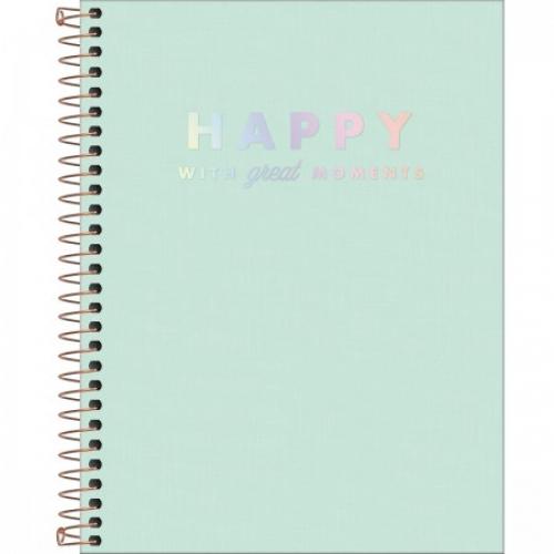 CADERNO COLEGIAL 10M CD TILIBRA HAPPY VERDE