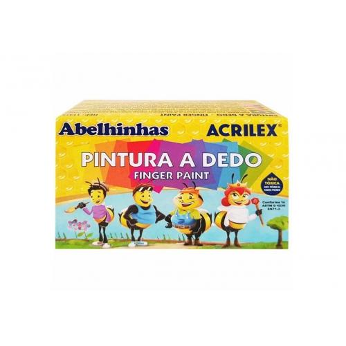 PINTURA A DEDO ACRILEX 6 CORES 30ML