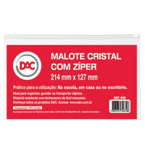 PASTA ZIP 21X13 DAC CRISTAL