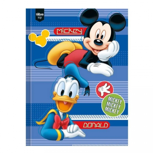 CADERNO BROCHURA 1/4 CD 96FLS TILIBRA MICKEY