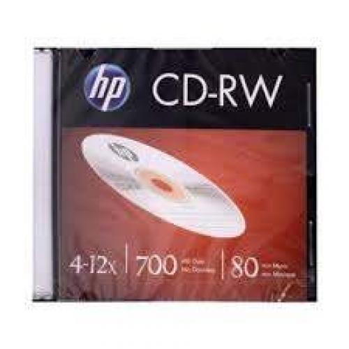 MIDIA CD-RW HP CAIXA SLIM