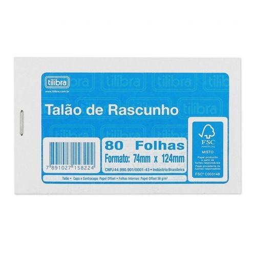 TALAO DE RASCUNHO COM SERRILHA 80FLS TILIBRA