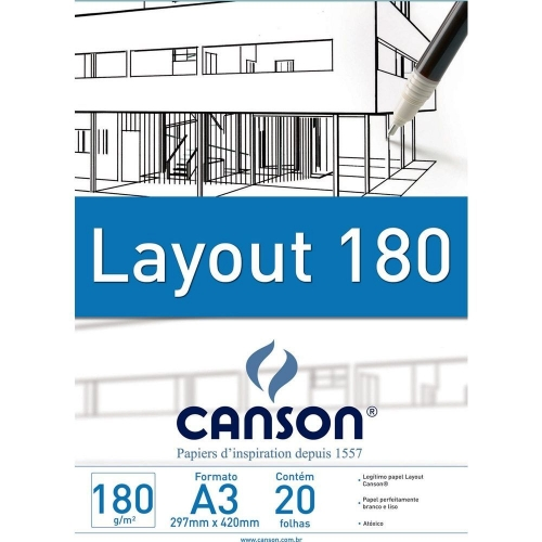 PAPEL LAYOUT A3 180G CANSON