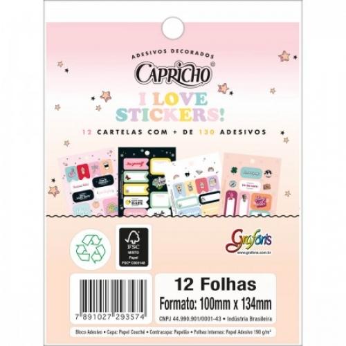 ADESIVO TILIBRA CARTELA 12PAG CAPRICHO
