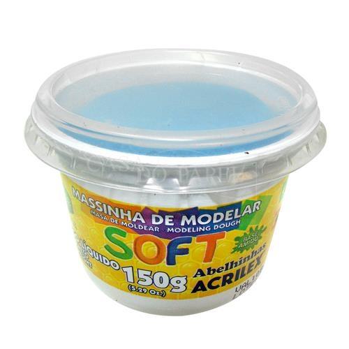 MASSA DE MODELAR BASE DE AMIDO ACRILEX SOFT 150G AZUL