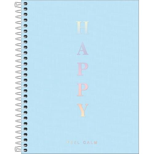 CADERNO COLEGIAL 01M CD TILIBRA HAPPY VERDE