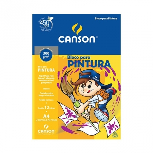 PAPEL PINTURA A4 300G CANSON ESCOLAR