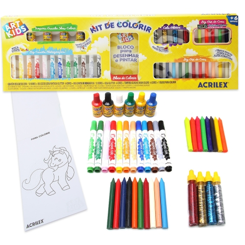 KIT DE COLORIR ACRILEX