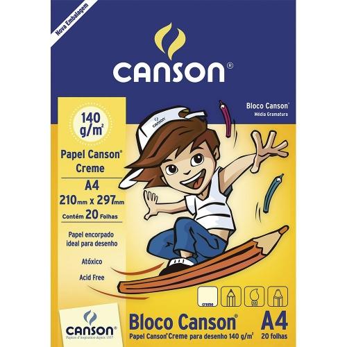 PAPEL DESENHO CREME A4 140G 20FLS CANSON