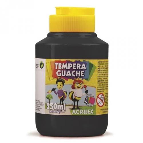 TINTA GUACHE ACRILEX 250ML PRETO 520