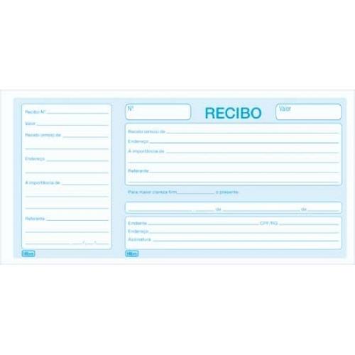 RECIBO COMERCIAL COM CANHOTO 50FLS TILIBRA