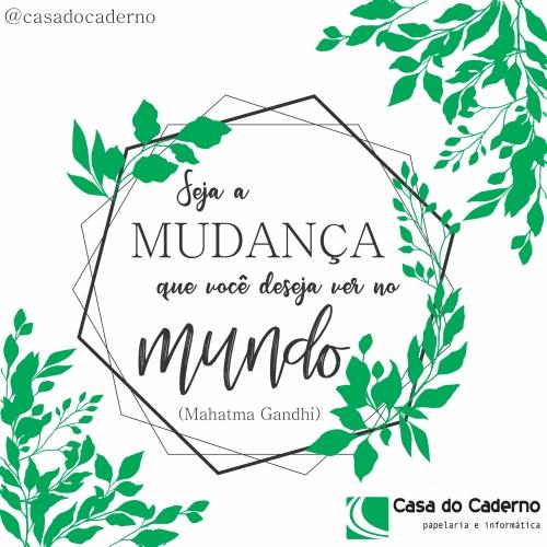 ECOBAG CASA DO CADERNO - SEJA A MUDANCA