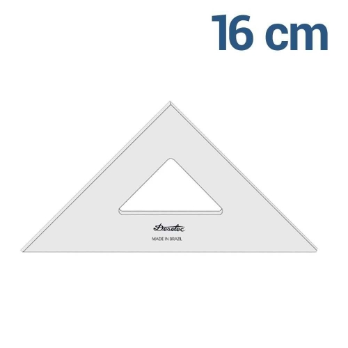 ESQUADRO TRIDENT 45* 16CM