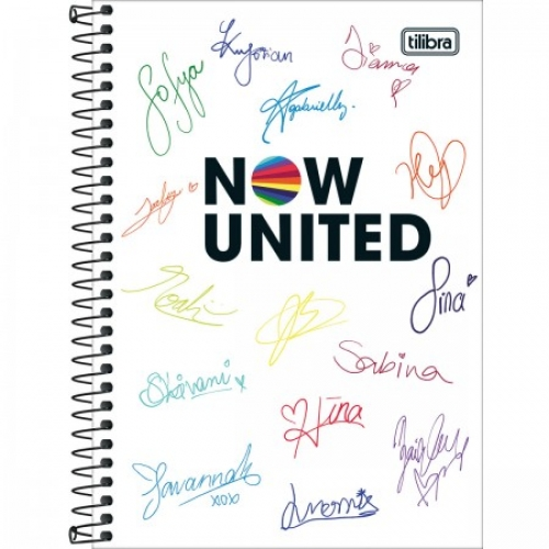 CADERNO ESPIRAL 1/4 CD 80FLS TILIBRA NOW UNITED