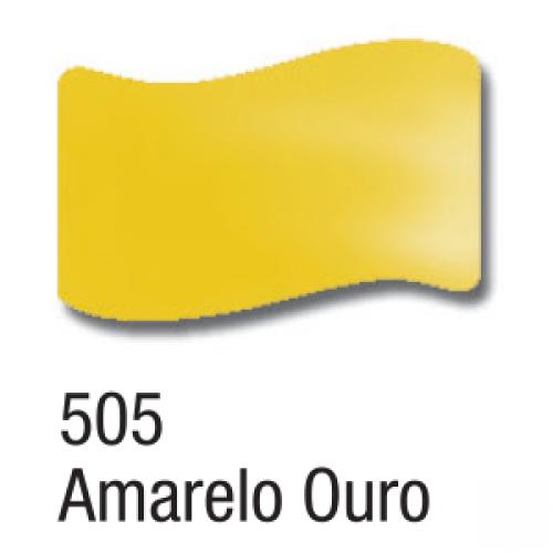 VERNIZ VITRAL ACRILEX 37ML AMARELO OURO