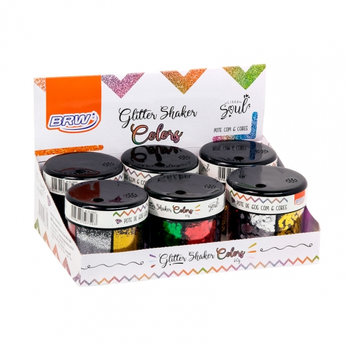 GLITTER SHAKER COLORS 60G 6 CORES