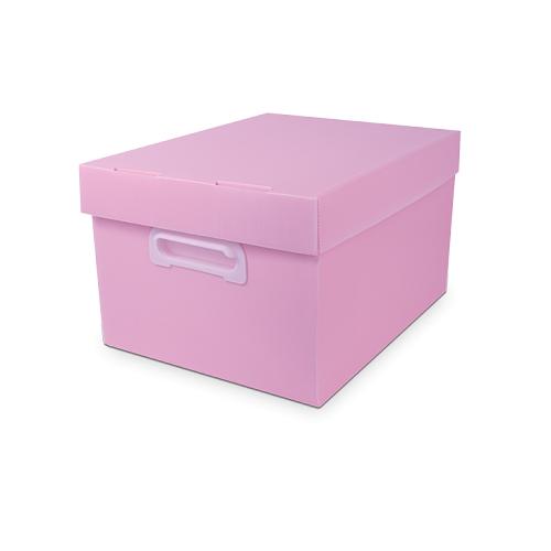 CAIXA ORGANIZADORA POLIBRAS BEST BOX M PASTEL ROSA