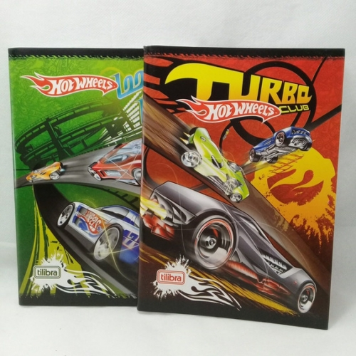CADERNO BROCHURA 1/4 CF 96FLS TILIBRA HOT WHEELS