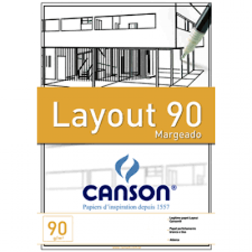 PAPEL LAYOUT A4 90G CANSON TECNICO COM MARGEM