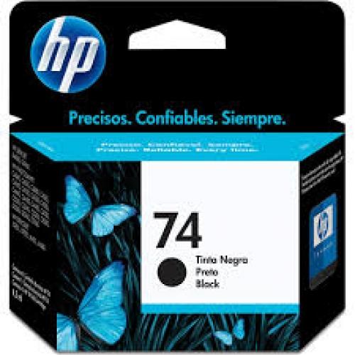 CARTUCHO HP 74 PRETO
