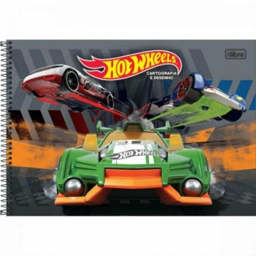 CADERNO CARTOGRAFIA CD 96FLS TILIBRA HOT WHEELS
