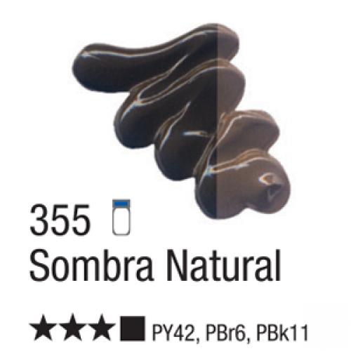 TINTA TELA OLEO ACRILEX 20ML SOMBRA NATURAL 355