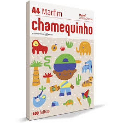 PAPEL A4 75G CHAMEQUINHO MARFIM 100FLS