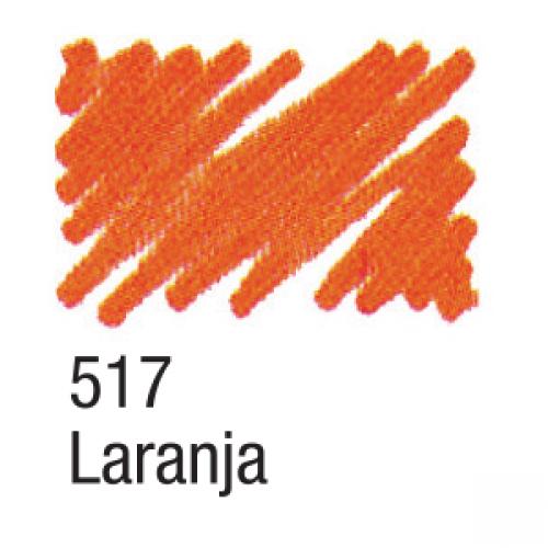 CANETA PARA TECIDO ACRILPEN ACRILEX LARANJA 517