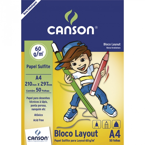 PAPEL LAYOUT A4 60G CANSON