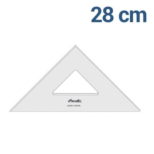 ESQUADRO TRIDENT 45* 28CM