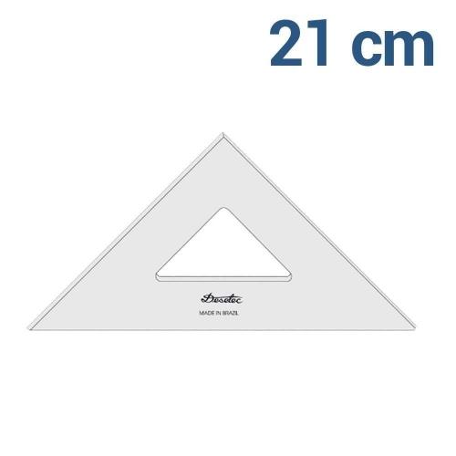 ESQUADRO TRIDENT 45* 21CM
