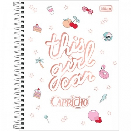 CADERNO COLEGIAL 01M CD TILIBRA CAPRICHO