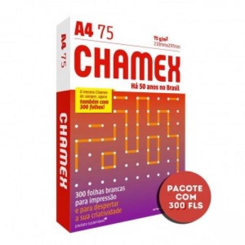 PAPEL A4 75G CHAMEX CAIXA COM 8 PACOTES COM 300 FOLHAS