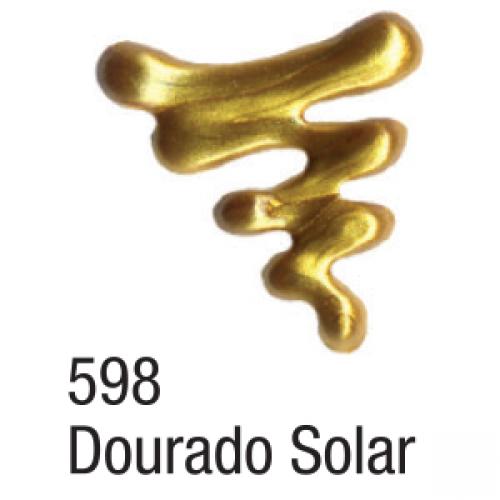 TINTA DIMENSIONAL ACRILEX 35ML METAL DOURADO SOLAR