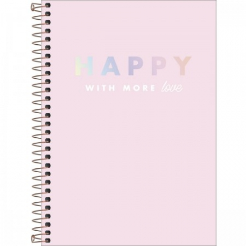CADERNO ESPIRAL 1/4 CD 80FLS TILIBRA HAPPY