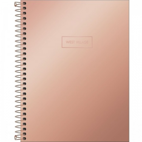 CADERNO COLEGIAL 01M CD TILIBRA WEST VILLAGE METALIZADO