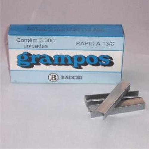 GRAMPO BACCHI A13/8 GALVANIZADO 5000UNDS