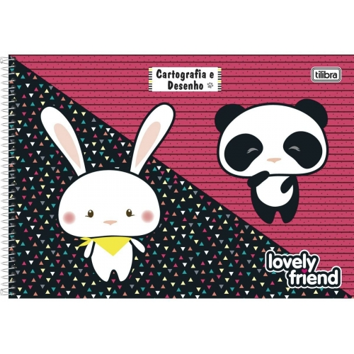 CADERNO CARTOGRAFIA CD 96FLS TILIBRA LOVELY FRIEND