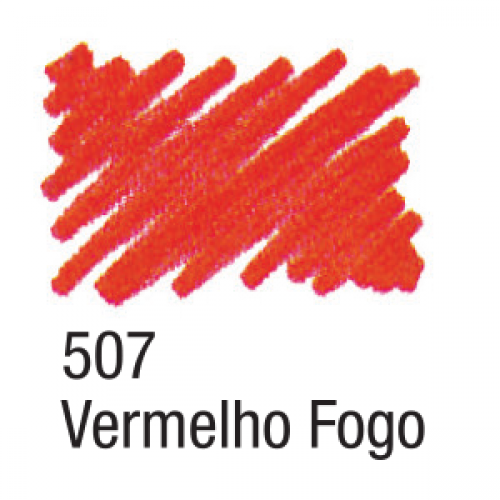 CANETA PARA TECIDO ACRILPEN ACRILEX VERMELHO FOGO 507