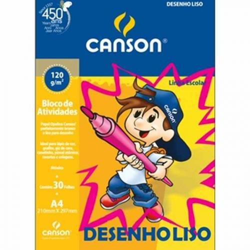PAPEL DESENHO LISO A4 120G 30FLS CANSON