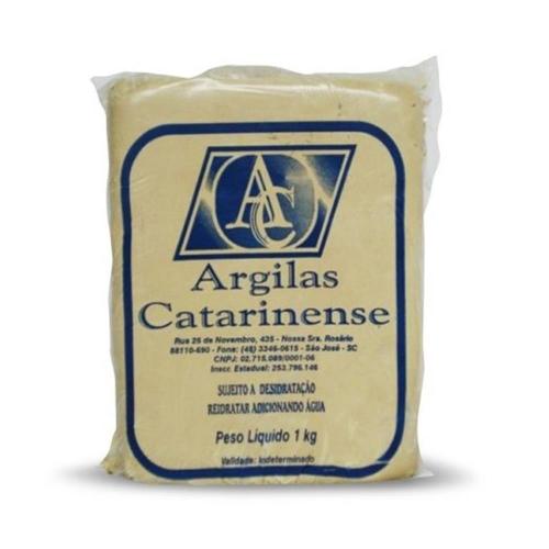 ARGILA CLARA 1KG CATARINENSE
