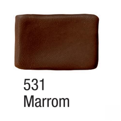 MASSA BISCUIT ACRILEX 90G MARROM