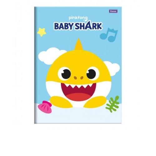 CADERNO BROCHURA 1/4 CD 48FLS FORONI BABY SHARK